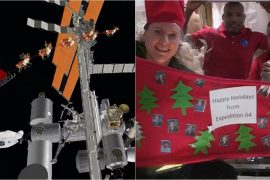 christmas, christmas 2020, christmas in space, international space station, christmas in iss, norad santa space station, astronauts celebrate christmas, viral news, trending news, Indian Express news