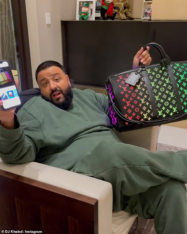 Social media: The 45-year-old music producer posted a video of about 22.8 million followers of the luxury bag that made its debut on the Louis Vuitton Men's Fall / Winter 2019 Runway