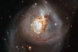 The Hubble Telescope offers rare and fascinating views of the collision of six galaxies