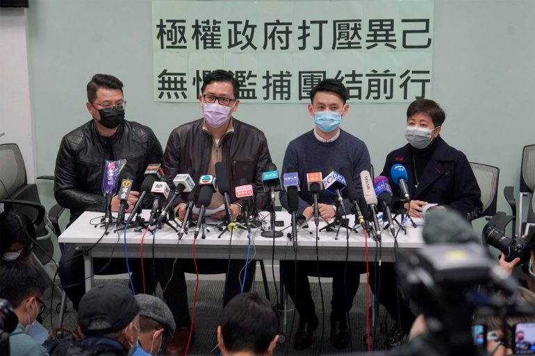 The United States, the United Kingdom, Australia and Canada condemn the Hong Kong arrests