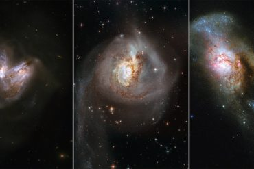 Six incredible pictures of galaxy collision